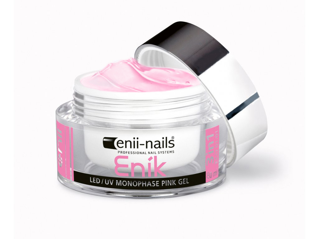 ENII-NAILS ENÍK - LED/UV gel pink jednofázový 80 ml