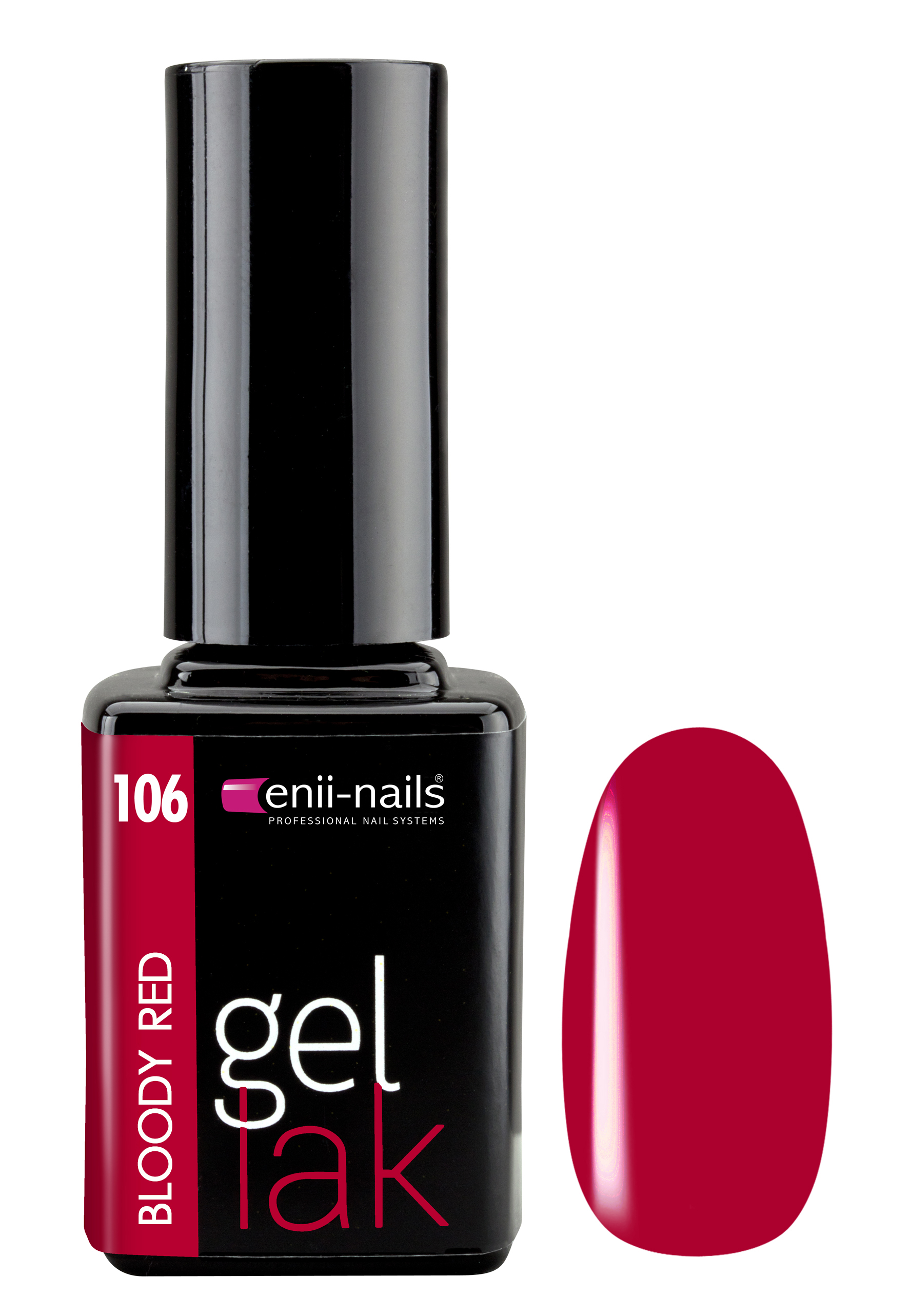 ENII-NAILS Gel lak Bloody Red 11 ml