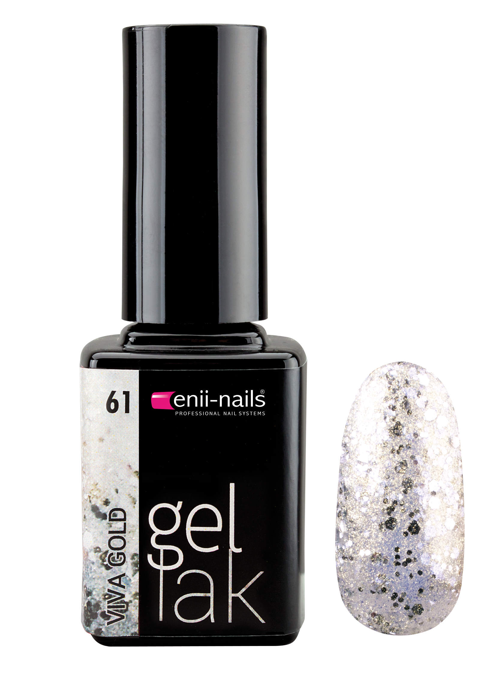 ENII-NAILS Gel lak 11 ml - viva gold