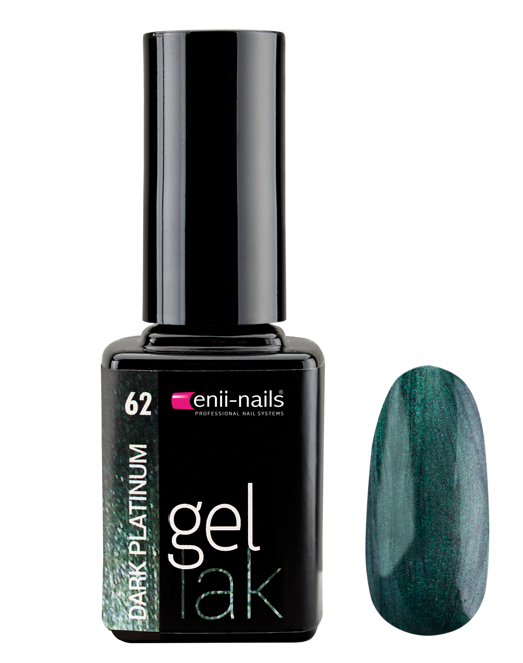 ENII-NAILS Gel lak 11 ml - dark platinum