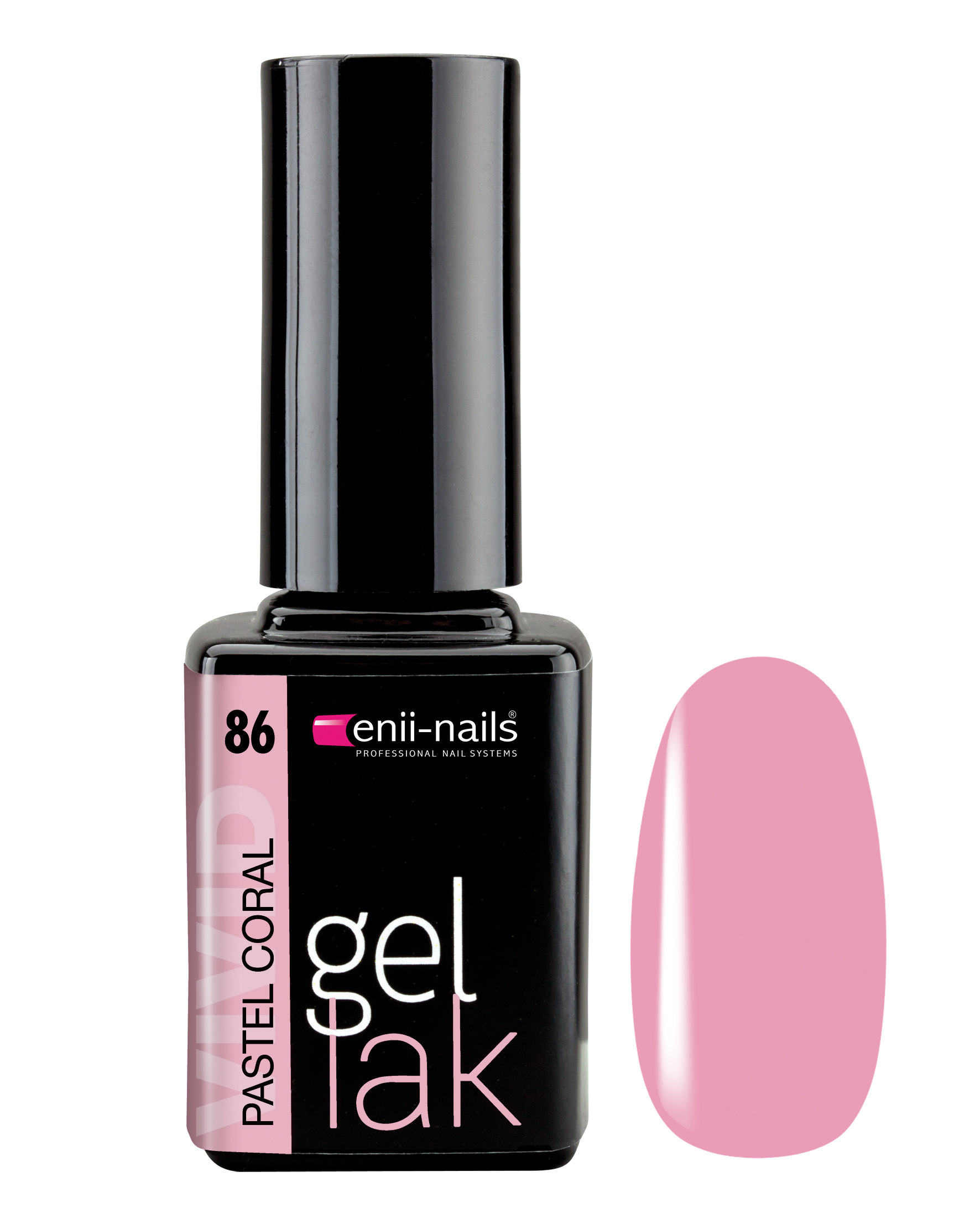 ENII-NAILS Gel lak Pastel Coral 11 ml