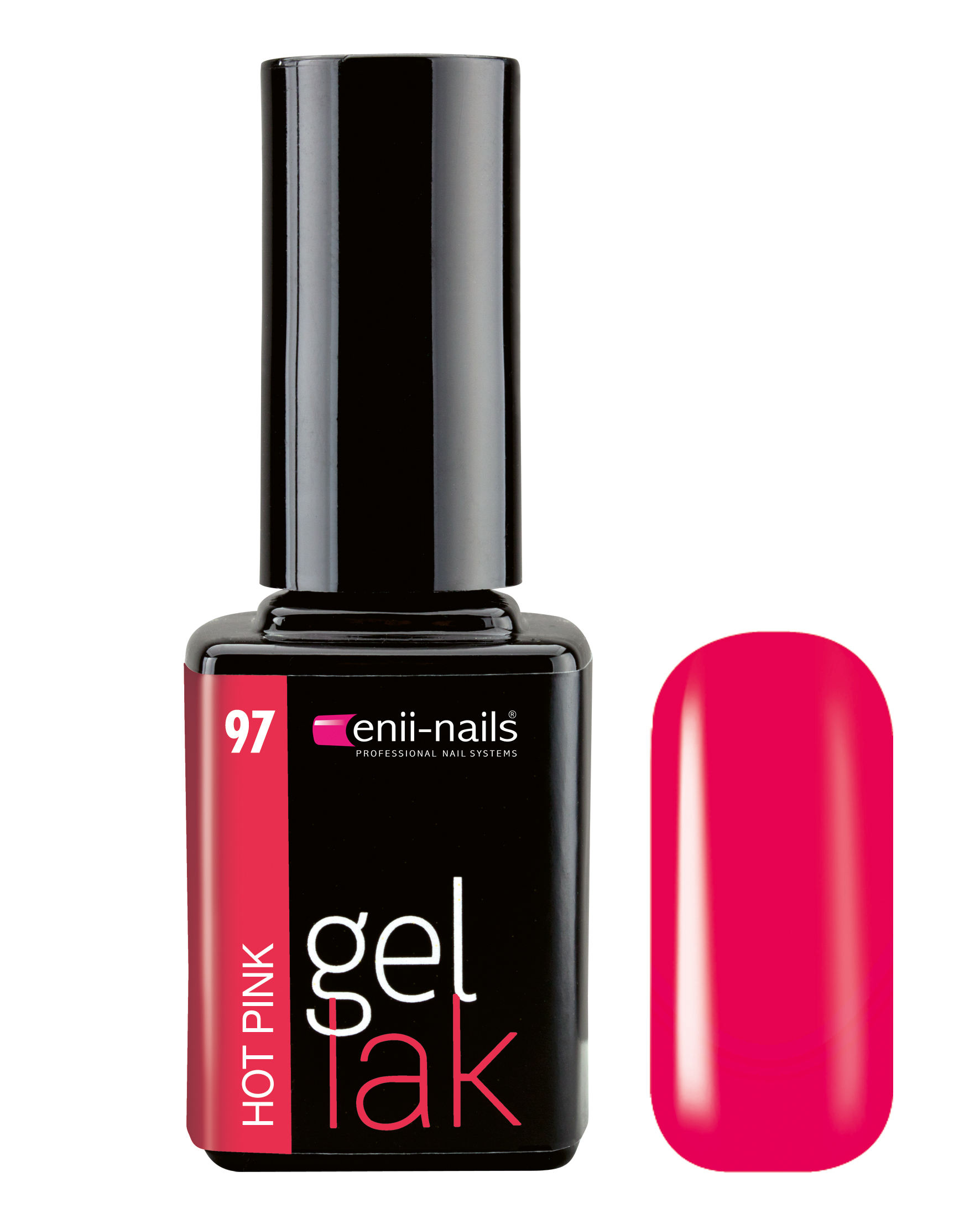 ENII-NAILS Gel lak 11 ml - Hot Pink