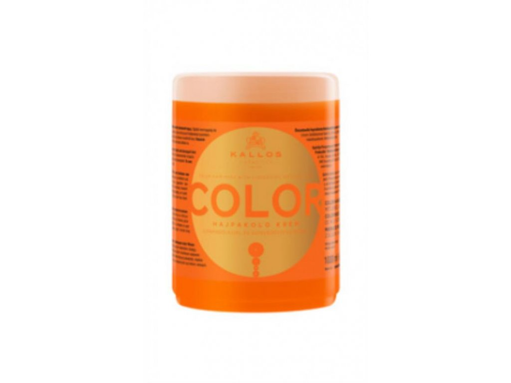 Maska s ľanovým olejom a UV filtrom pre farbené vlasy 1000 ml
