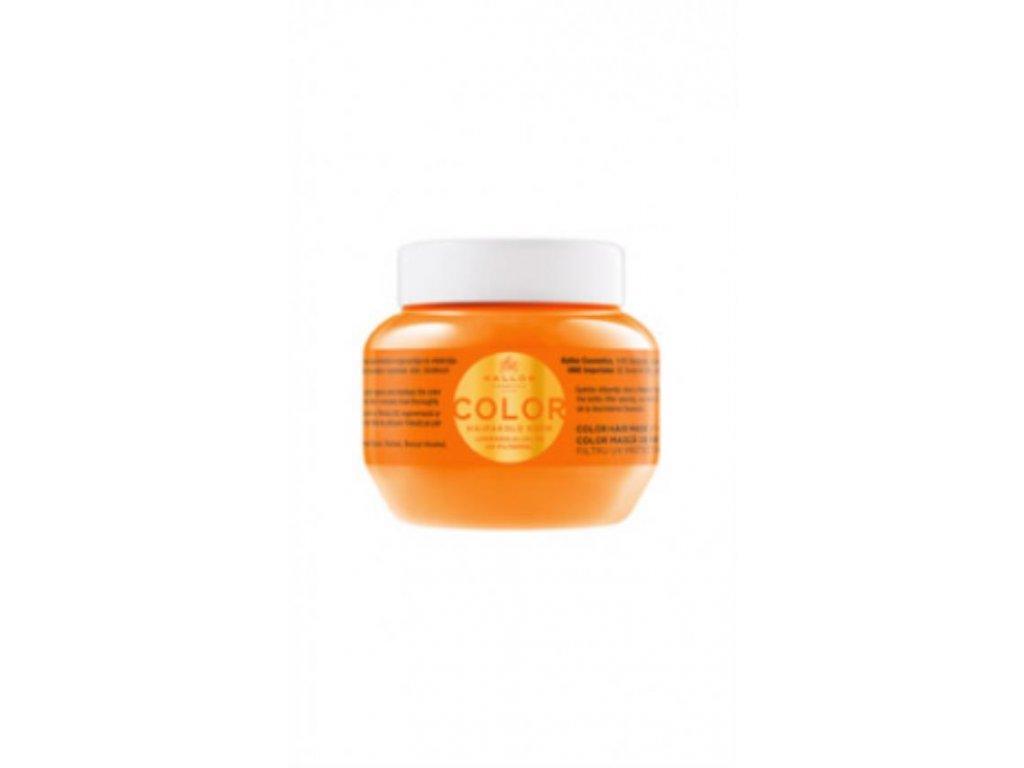 Maska s ľanovým olejom a UV filtrom na farbené vlasy 275 mll