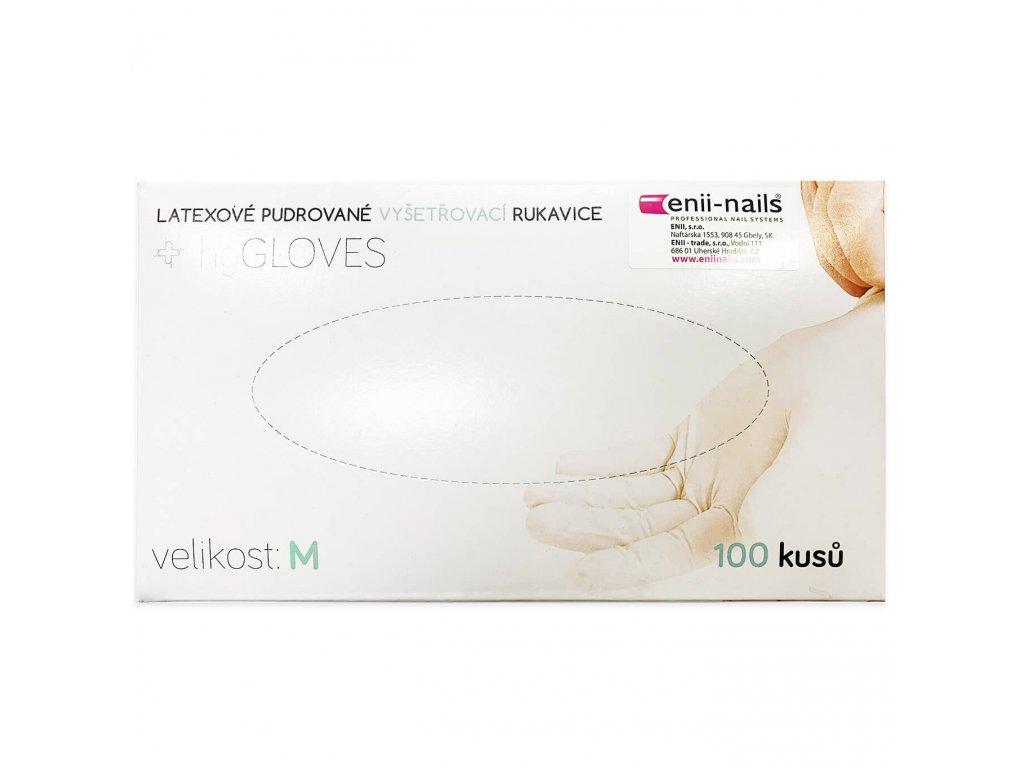 Latex pudrované rukavice velikost M