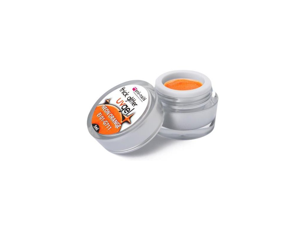 Flitrový UV gél Neon Orange 5 ml