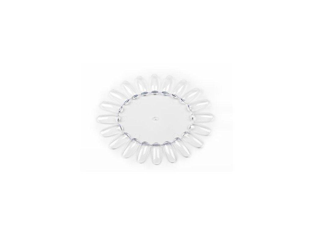 Prázdny plastový vzorkovník lakov - clear