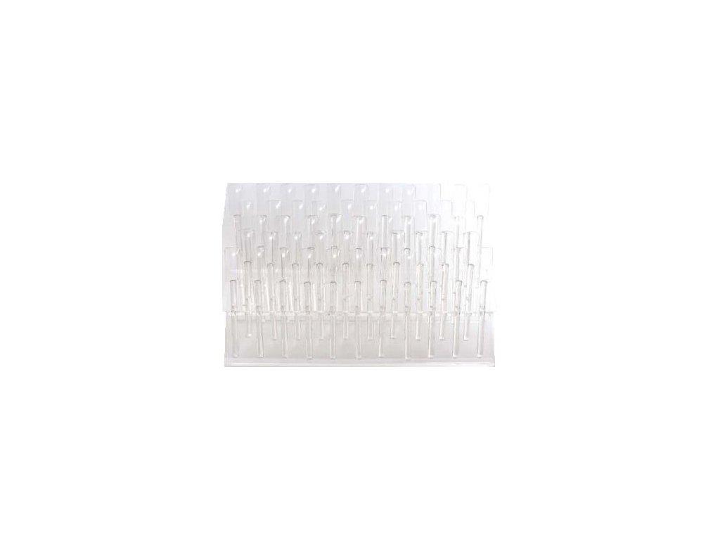 Prázdny plastový vzorkovník lakov (stojan)