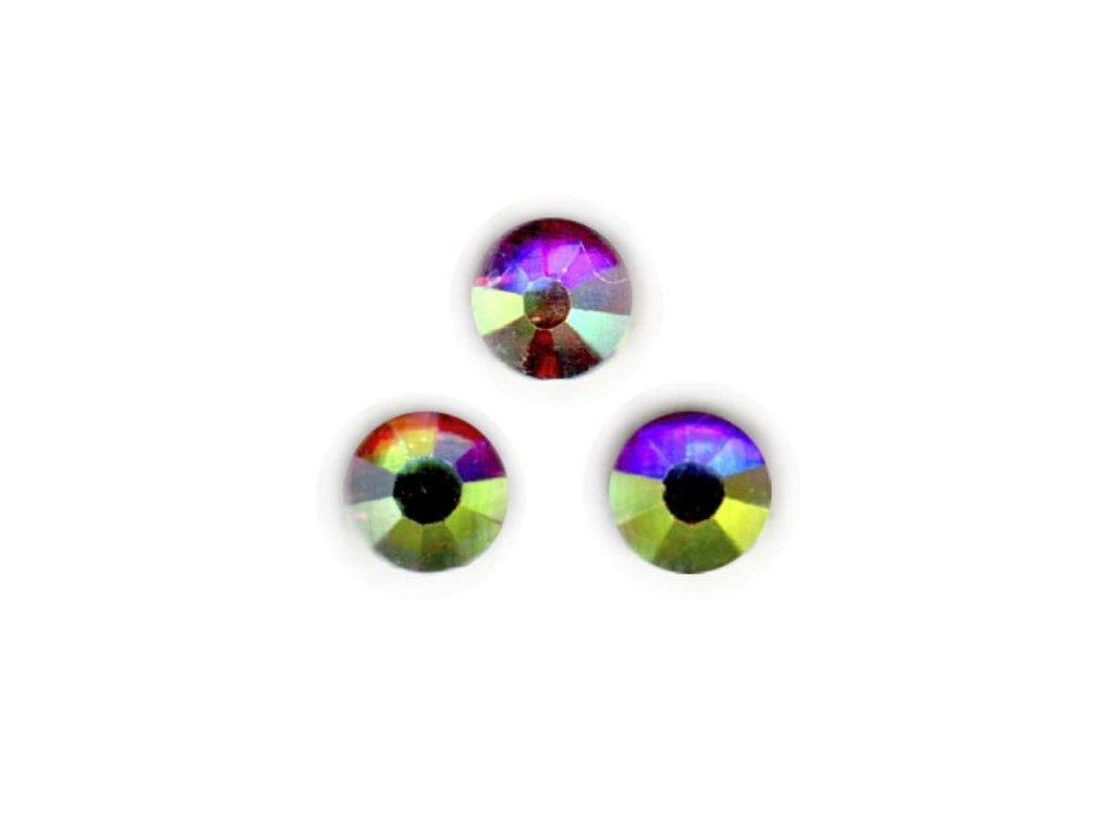 Štrasové kamienky s AB efektom - 30 ks
