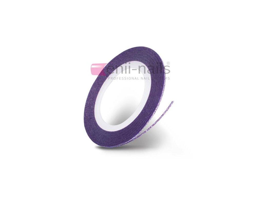 Nail art flitrová páska - fialová, 1mm
