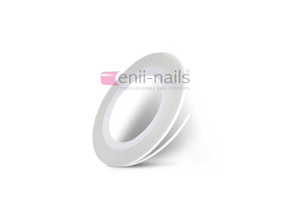 Nail art páska - biela, 1mm