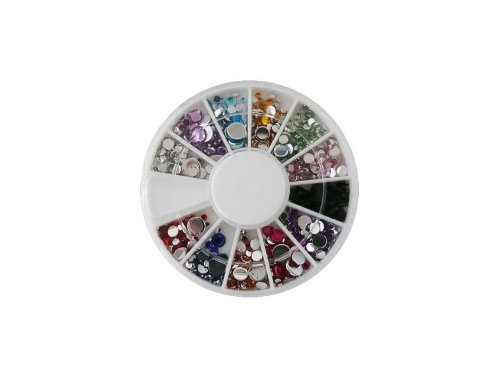 Štrasové kamienky SBOX COLOR mix cca 500 ks