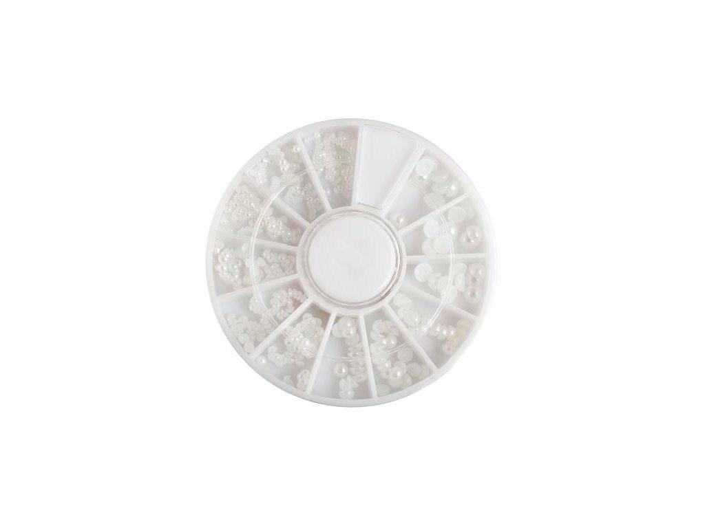 Perly biele, cca. 450 ks
