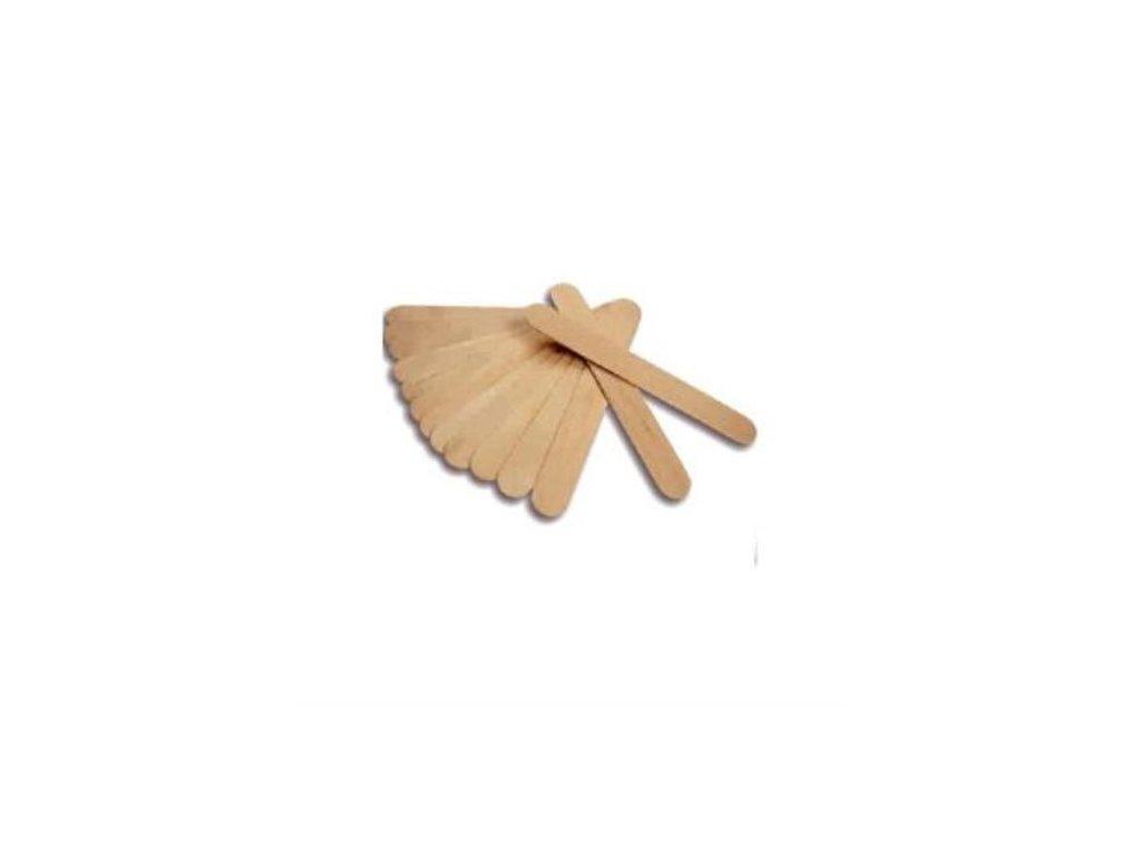 Špachtla drevená na vosk 100 ks