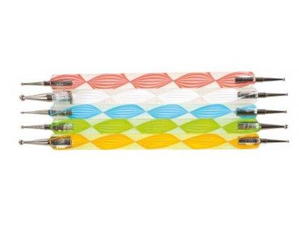 Set zdobiacich tyčiniek s guľatým hrotom 5 ks