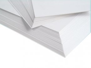 190 bily karton a2 10 listu