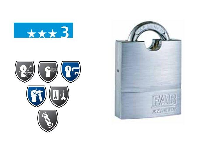FAB 211RS - bezpečnostní visací zámek