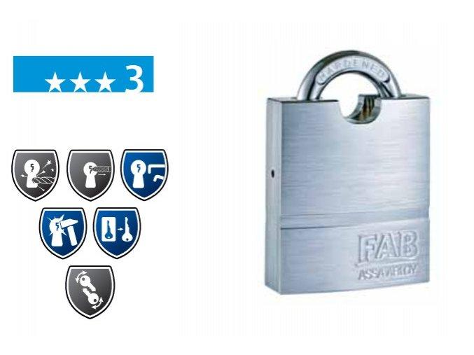 FAB 1011U bezpečnostní visací zámek