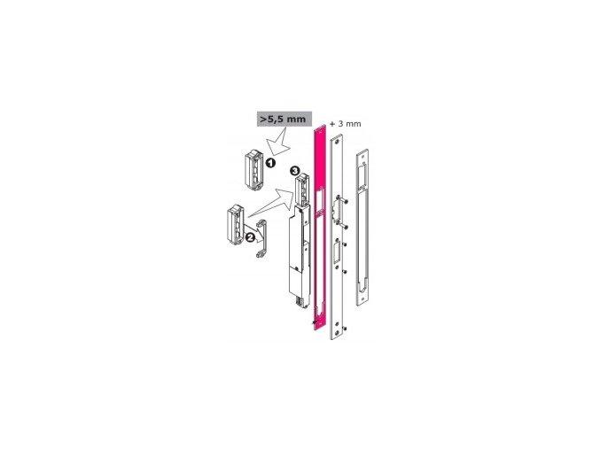 MEDIATOR - distanční plech pod motor.část
