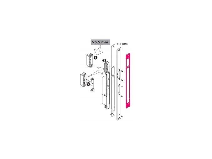 MEDIATOR - distanční plech úzký