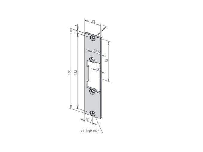 Čelní plech 68835-01 PROFIX 2