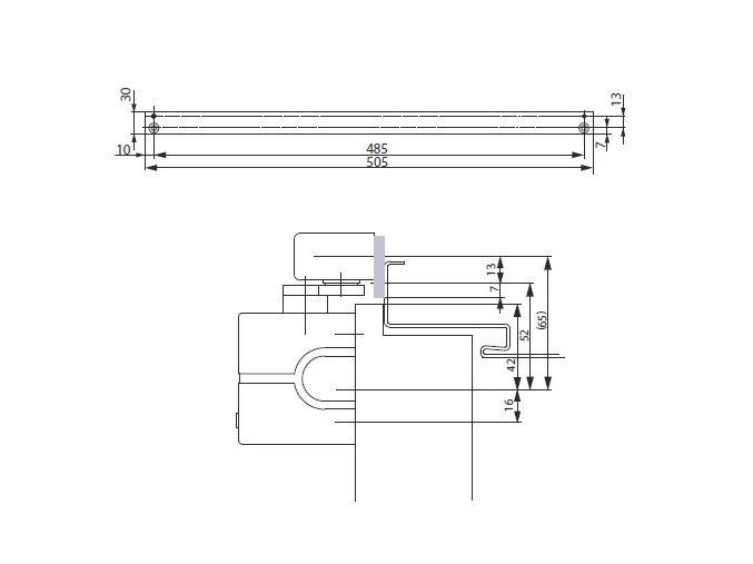 Montážní plech A130