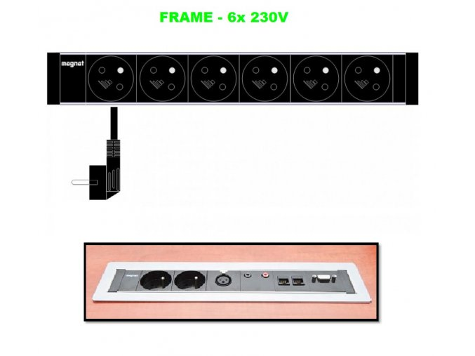 Magnat FRAME 030 - 6x 230V