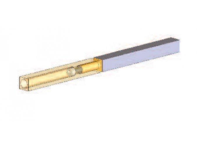 Dělený čtyřhran 8x8mm, 70/65mm