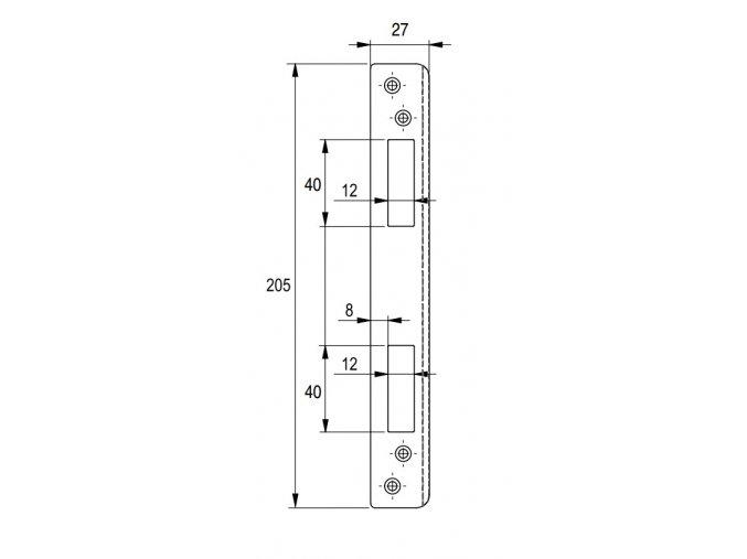 Rovná lišta LI RO - protiplech