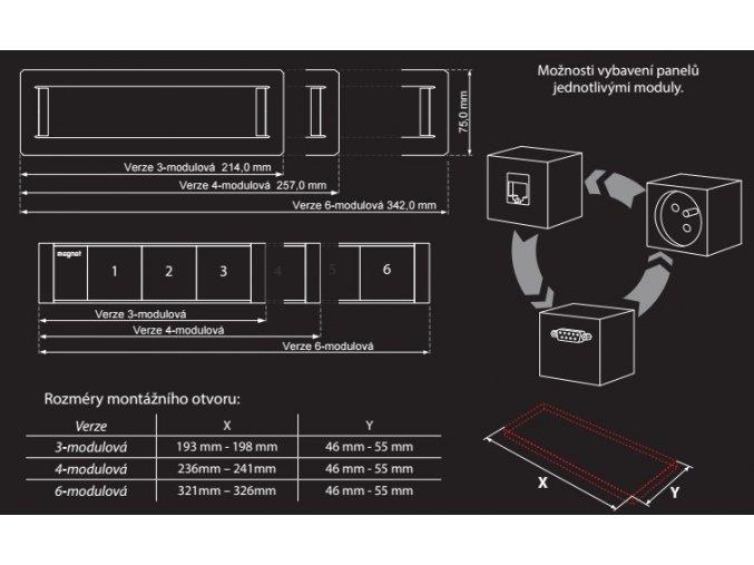 Magnat FRAME 028 - 2x230V , 1xHDMI, 2xRJ45