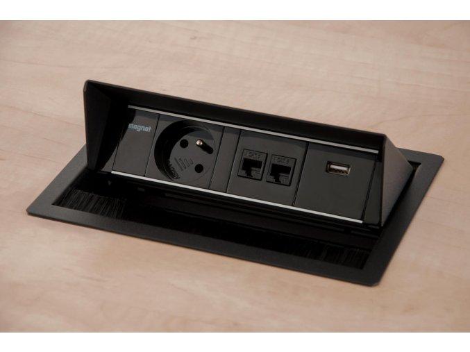 Magnat BOX 019 -  2x 230V+2xUSB