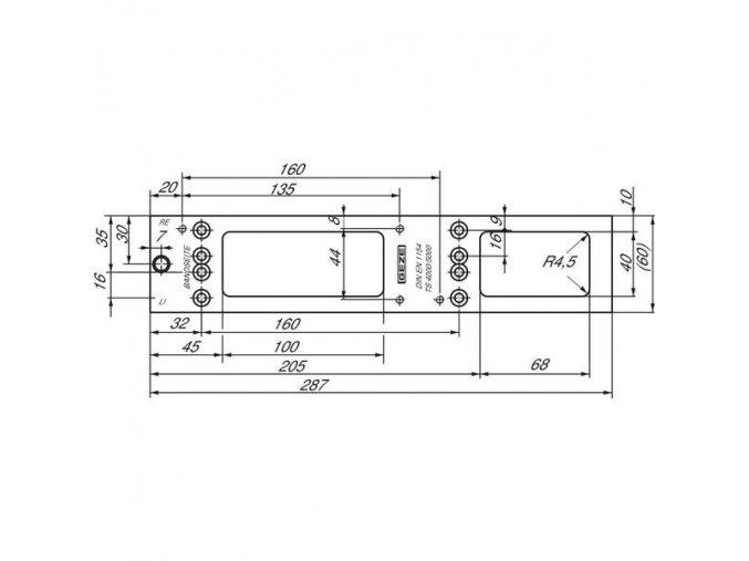 Montážní deska pro GEZE TS5000