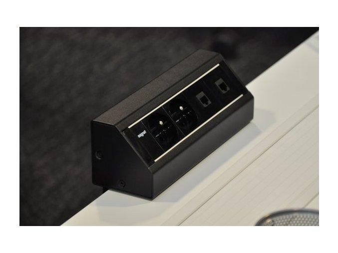 Magnat STICK 003 - 2x 230V + 1x VGA + 1x HDMI + 2x RJ-45 + 1x MiniJack 3,5mm + 3x RCA Audio-Video