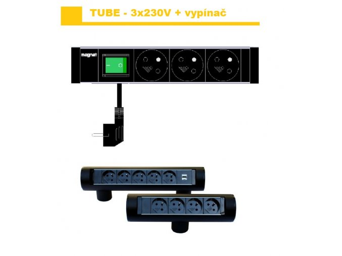 Magnat Tube04 - 3x230V  + vypínač