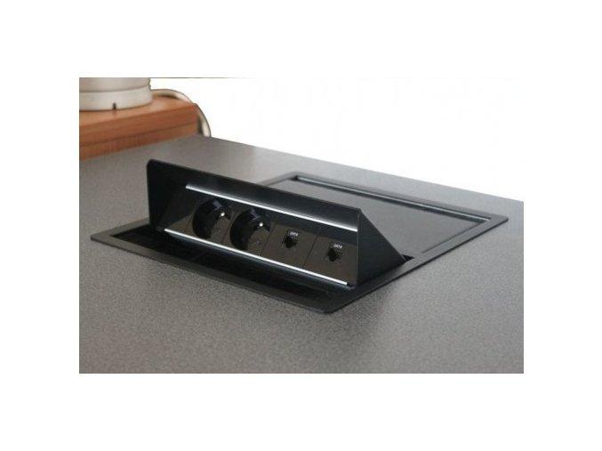 Magnat BOX DUO 003 - 2x 230V + 2x USB + 1x VGA + 1x MiniJack 3,5mm