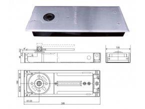 Podlahový dveřní zavírač DC460