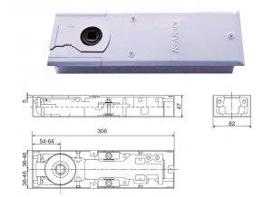 Podlahový dveřní zavírač DC420