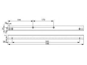 A116 montážní plech L boční (G461-464)