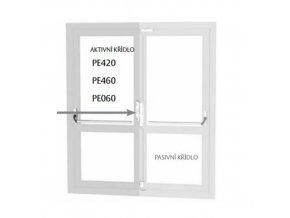 Elektromechaický zámek EL560/55 + kabel s konektorem  + kabel s konektorem EA218, 6m