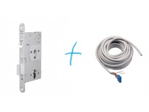 Elektromechanický zámek EL560/55 + kabel s konektorem  + kabel s konektorem EA218, 6m