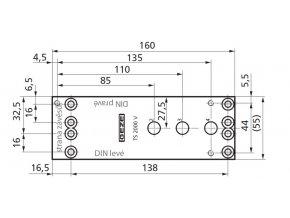 GEZE montážní deska pro TS 2000 V