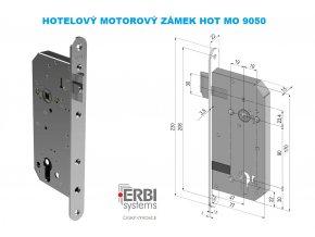 ERBI HOT MO 9050 hluboký motorový samozamykací hotelový zámek