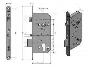 ERBI ME 9050 - mechanický samozamykací zámek