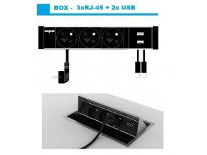 Magnat BOX 009 -  3x 230V+2xUSB