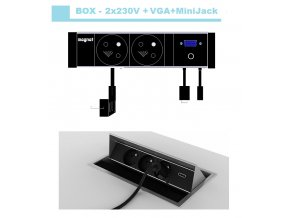 Magnat BOX 021-  2x 230V+VGA+MiniJack 3,5mm