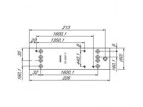 Montážní deska pro GEZE TS3000 V