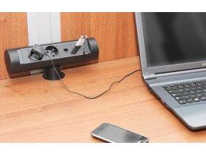 MAGNAT TUBE 06 - 3x 230V  + 2x USB 2.0 + HDMI + 2x RJ-45