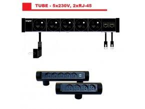Magnat Tube01 - 5x230V + 2xRJ-45