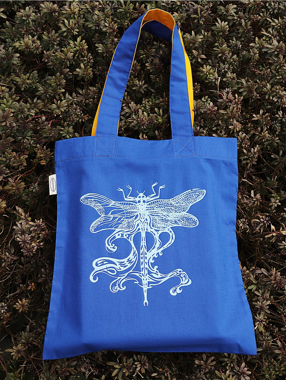 taska vazka secese modra