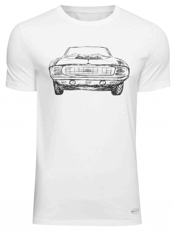 enveroshop Pánské tričko Camaro černé/bílý
